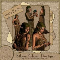 Gaia Erde Poser-Set