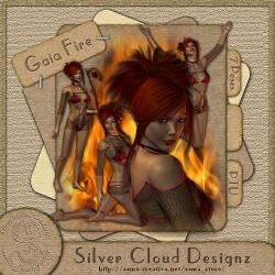 Gaia Feuer Poser-Set